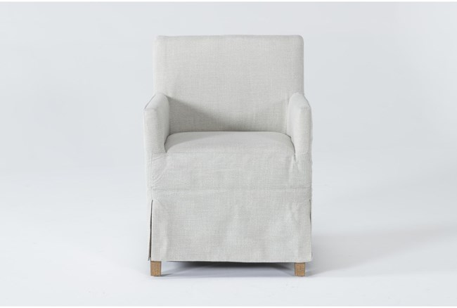 Magnolia Home Colette Slipcover Low Back Dining Chair By Joanna Gaines - 360