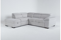 "Dante 104"" 3 Piece Convertible Sleeper Sectional With Left Arm Facing Storage Chaise"