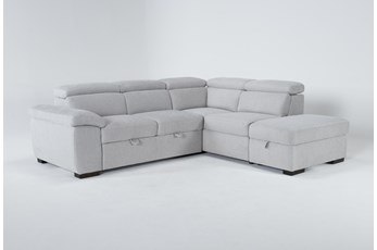 "Dante 104"" 3 Piece Convertible Sleeper Sectional With Right Arm Facing Storage Chaise"