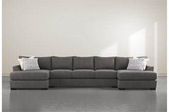 """Axton 3 Piece 169"""" Sectional With Double Chaise"""