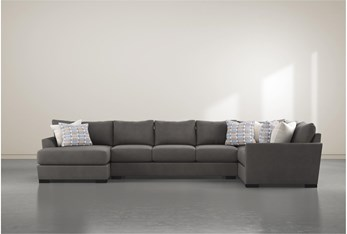 """Axton 3 Piece 168"""" Sectional With Left Arm Facing Chaise"""