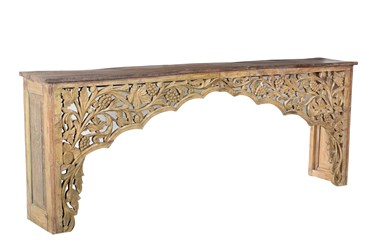 """Carved Arch 92"""" Console Table"""