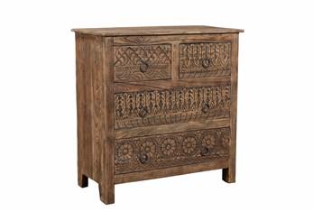Wood 4 Drawer Cabinet