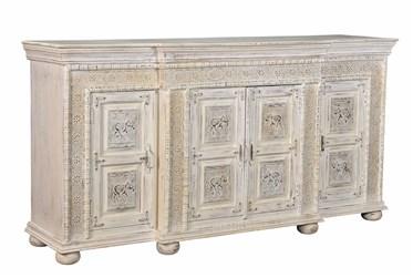 Brass Elephant Panel Cabinet