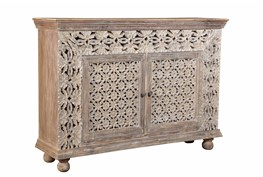 Double Carved Design Cabinet