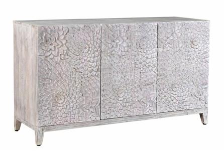 3 Door Floral Carved Cabinet - Main