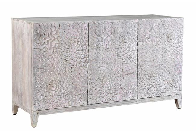 3 Door Floral Carved Cabinet - 360