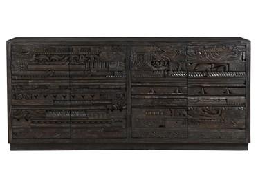 Carved 4 Door Cabinet