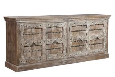 Carved Frame 4 Door Cabinet