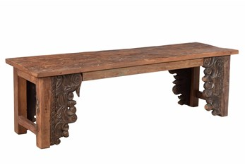 Bench With Carved Detail