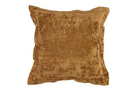 Accent Pillow - Gold Textured Velvet 22X22 - Main