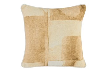 Accent Pillow - Gold Motltled Color Block 18X18