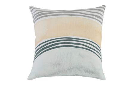 Accent Pillow - Blue + Yellow Arcs 18X18 - Main