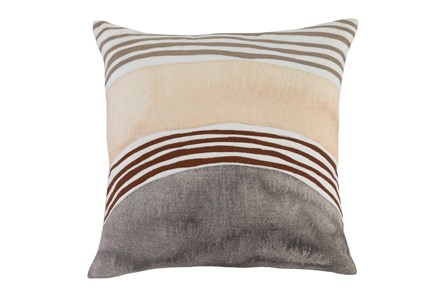 Accent Pillow - Brown + Yellow Arcs 18X18 - Main