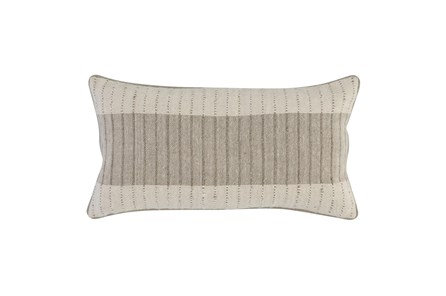 Accent Pillow - Ivory + Natural Block Stripe 14X26 - Main
