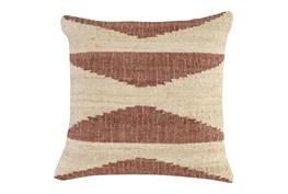 Accent Pillow - Copper Jute Triangles 22X22