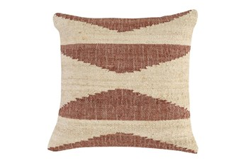Accent Pillow - Copper Jute Triangles 22X22