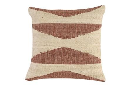 Accent Pillow - Copper Jute Triangles 22X22 - Main
