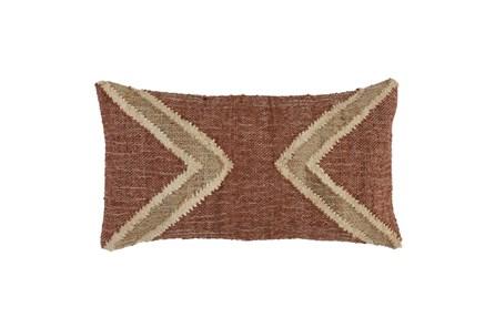 Accent Pillow - Copper Jute 14X26 - Main