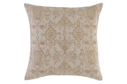 Accent Pillow - Gold + Ivory Damask 22X22 - Main