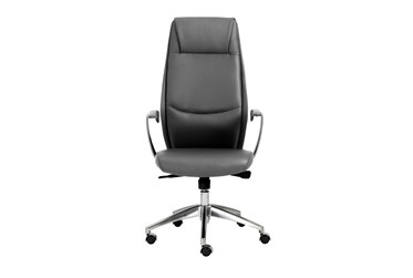 Karlstad Grey Faux Leather High Back Desk Chair