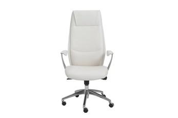 Karlstad White Vegan Leather High Back Desk Chair