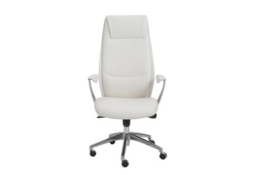 Karlstad White Faux Leather High Back Desk Chair
