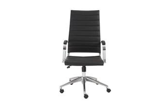 Kolding Black Vegan Leather High Back Desk Chair