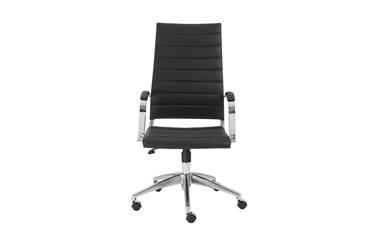 Kolding Black Faux Leather High Back Desk Chair