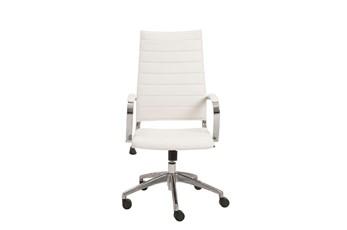 Kolding White Vegan Leather High Back Desk Chair