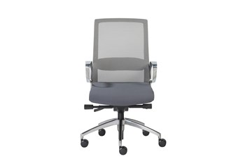 Kalmar Grey Mesh Back Desk Chair