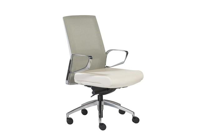 Kalmar Green And White Mesh Back Desk Chair - 360