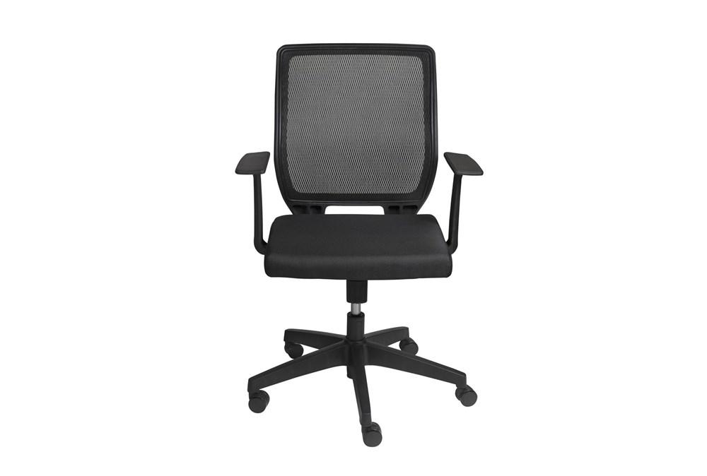 Halmstad Black Mesh Low Back Desk Chair