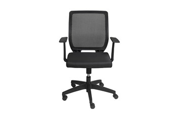 Halmstad Black Mesh Low Back Desk Chair
