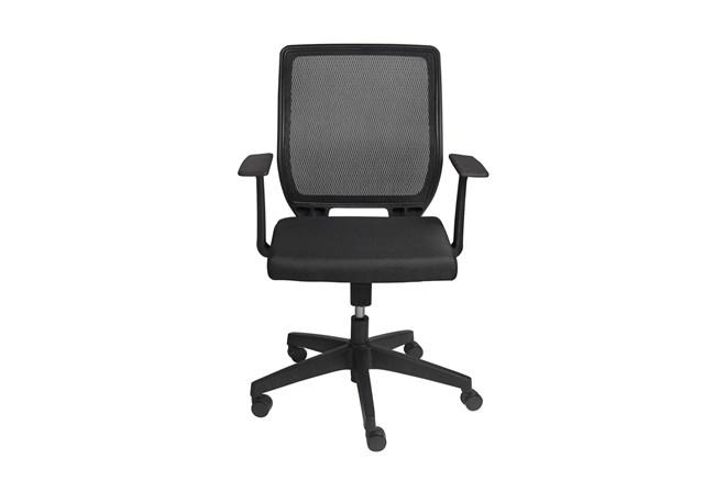 Halmstad Black Mesh Low Back Desk Chair - 360