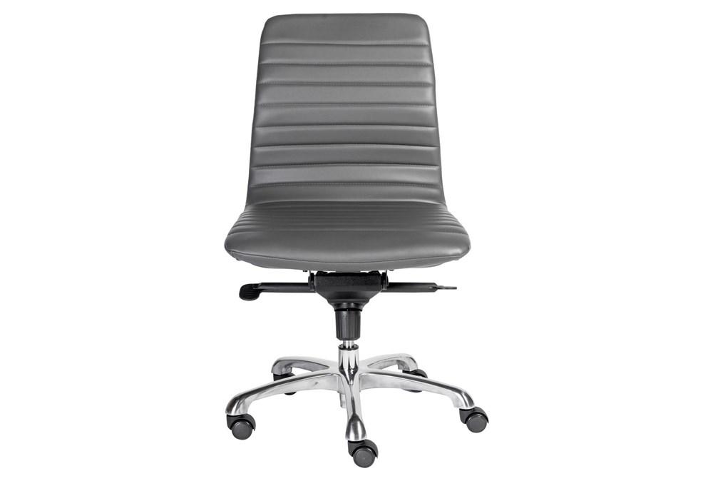 Falun Grey Vegan Leather Armless Desk, Armless Office Chair