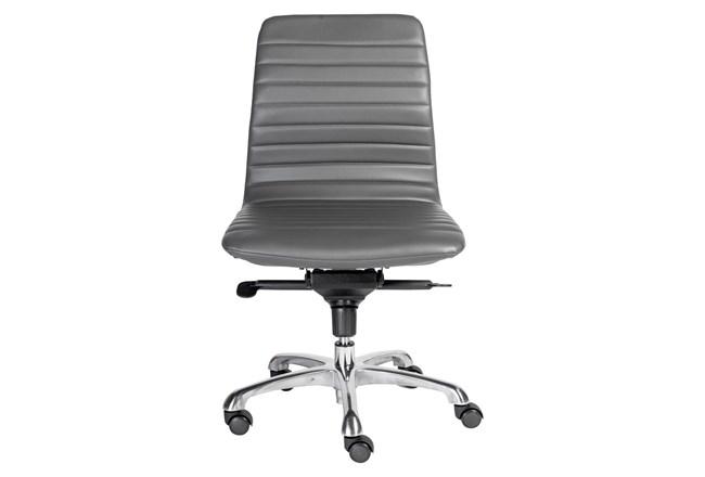 Falun Grey Vegan Leather Armless Desk Chair - 360