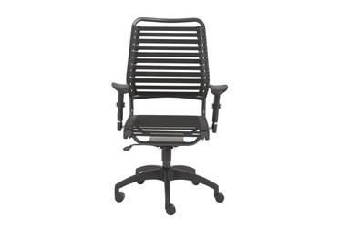 Farum Black High Back Bungee Desk Chair