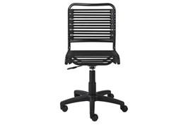 Oslo Black Low Back Bungee Desk Chair
