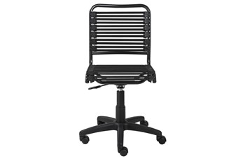 Oslo Black Low Back Bungee Desk Chair