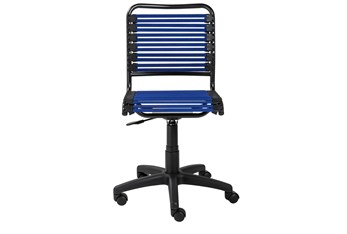 Oslo Blue Low Back Bungee Desk Chair