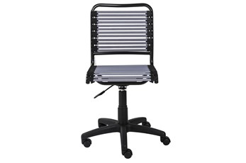 Oslo Light Grey Low Back Bungee Desk Chair