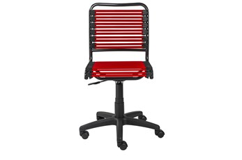Oslo Red Low Back Bungee Desk Chair