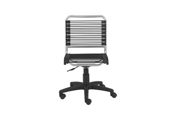 Uppsala Black And Aluminum Low Back Bungee Armless Desk Chair
