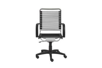 Uppsala Black And Aluminum High Back Bungee Desk Chair