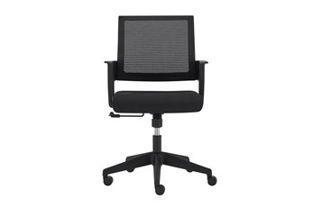Larvik Black Mesh Back Desk Chair