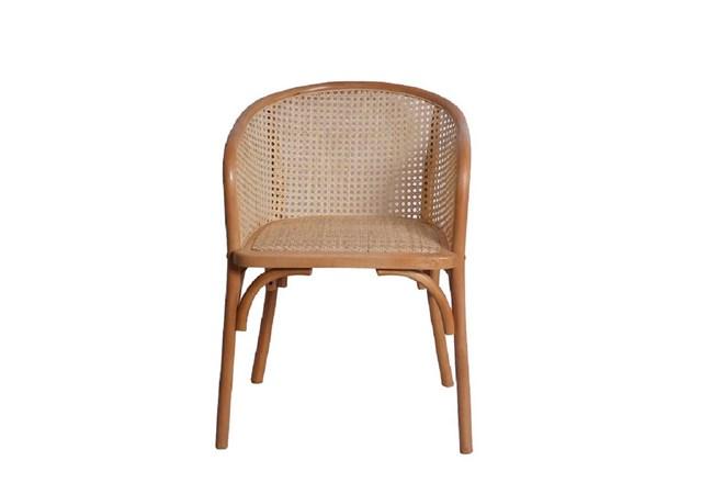 Natural Cane Barrel Back Arm Chair - 360