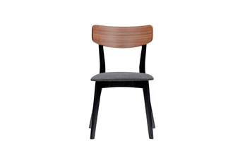 Fullerton Grey And Walnut Dining Chair-Set Of 2