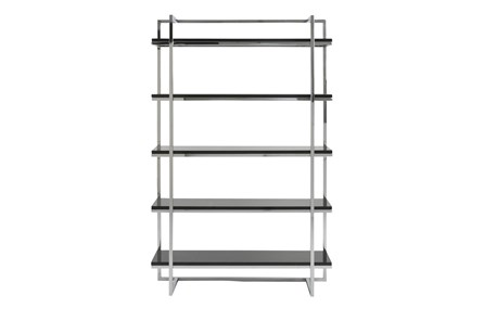 Carlsbad Black And Chrome 62 Inch Bookcase - Main