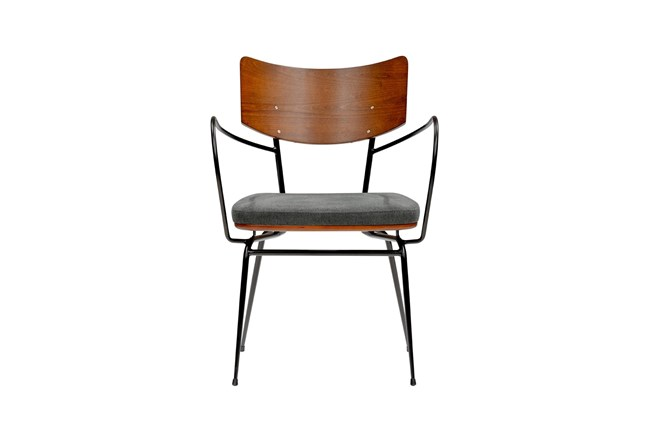 Anza Dark Grey Arm Chair - 360
